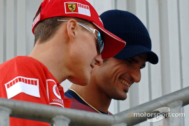 Michael Schumacher et Vitantonio Liuzzi
