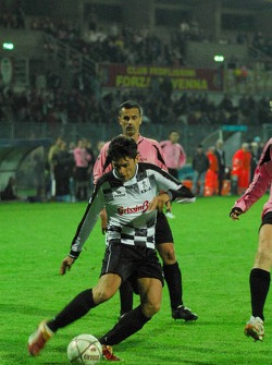 Champions for Charity football match, Ravenna's Benelli Stadium: Giancarlo Fisichella