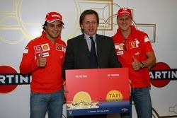 Le lancement de Martini avec la campagne avec Felipe Massa et Michael Schumacher