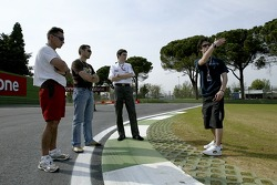 Javier Villa goes on a track walk