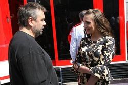 Luc Besson and Tamara Ecclestone