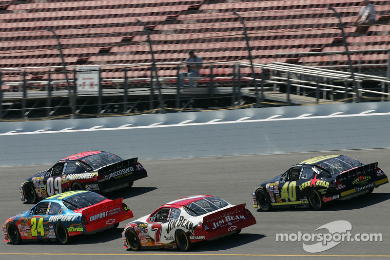 Mike Wallace, Jeff Gordon, Robby Gordon et David Stremme