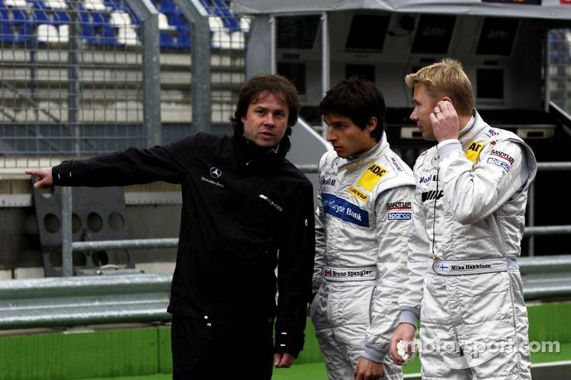 Gerhard Ungar, Chef designer de AMG, Mika Hakkinen et Bruno Spengler