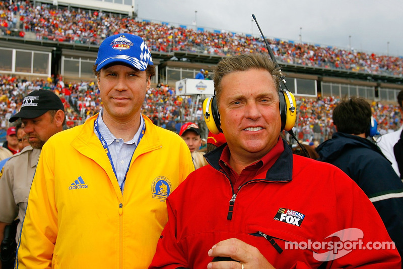 actor will ferrell and steve burns at talladega