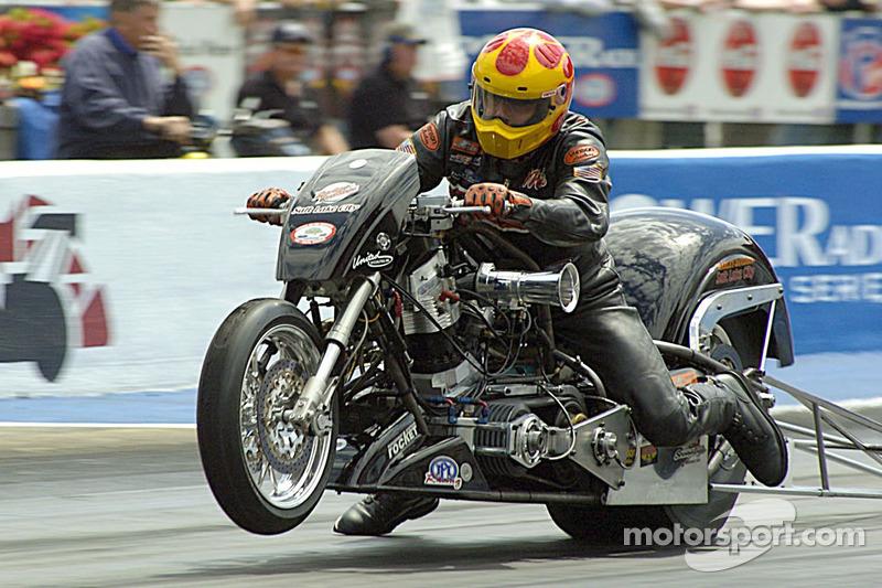 Jack Romine victorieux à la Top Fuel Harley