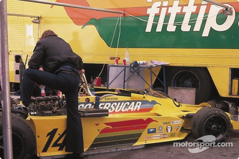 Le paddock de Copersucar Fittipaldi