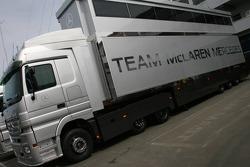 McLaren transporters