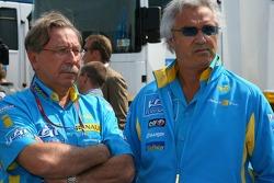 Jean-François Caubet and Flavio Briatore