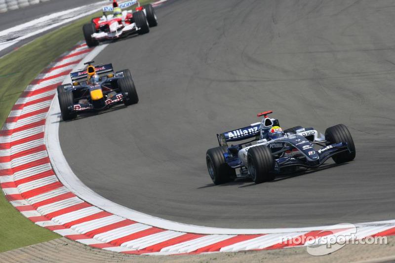 Mark Webber devant Christian Klien