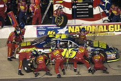 Pole sitter Greg Biffle comes in for a pitstop