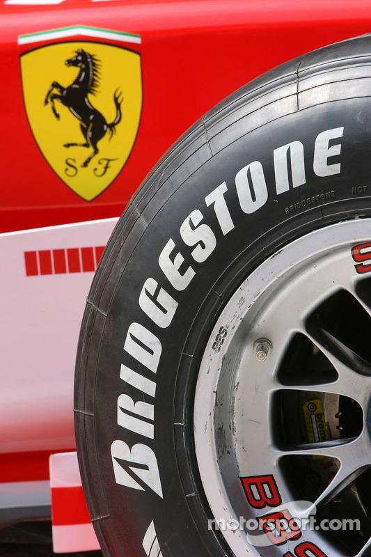 Détail de la Ferrari