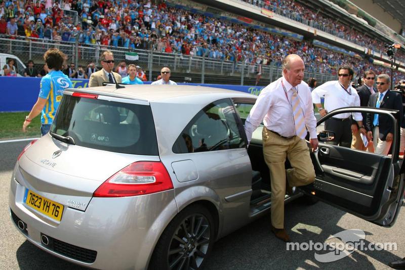Le roi d'Espagne Juan Carlos I et Fernando Alonso