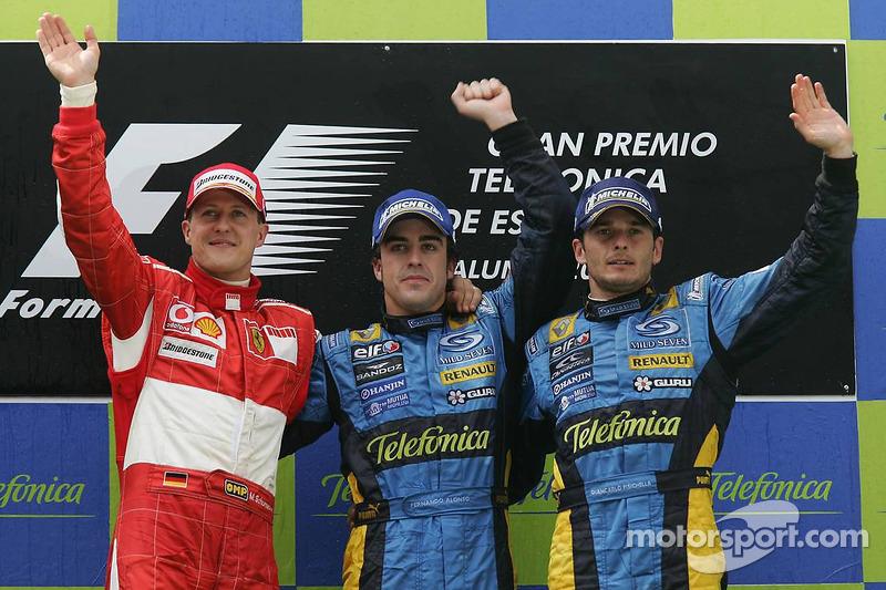 Fernando Alonso, Michael Schumacher, Giancarlo Fisichella