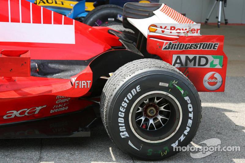 La voiture de Michael Schumacher après la course