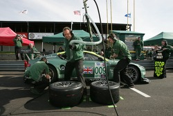 Pitstop practice at Aston Martin Racing