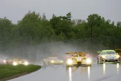 #7 Penske Motorsports Porsche RS Spyder: Timo Bernhard, Romain Dumas, #31 Petersen/White Lightning Porsche 911 GT3 RSR: Jorg Bergmeister, Michael Petersen, Patrick Long