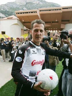 Charity football match: Michael Schumacher