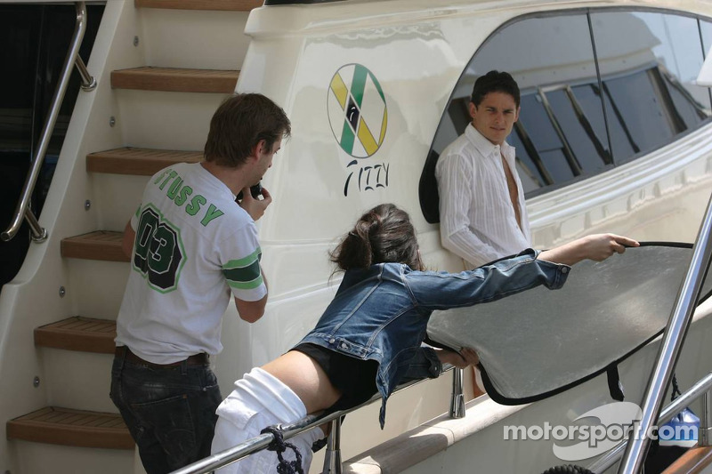 Giancarlo Fisichella sur son bateau