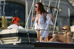Girls on a boat in Monaco Harbour