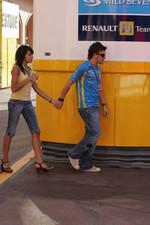 Fernando Alonso and his girlfriend Raquel del Rosario