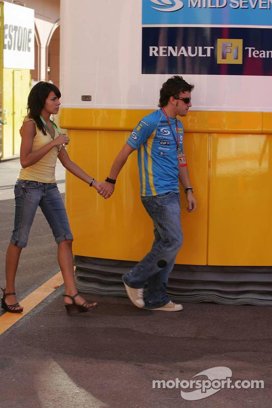 Fernando Alonso et sa petite amie Raquel del Rosario