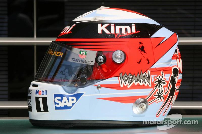 Spécial casquet pour Monaco de Kimi Räikkönen