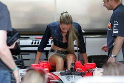 Model shooting in the Midland MF1 Racing garage
