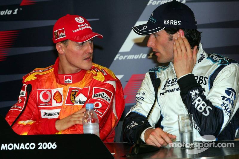 Conférence de presse de la FIA: Michael Schumacher et Mark Webber