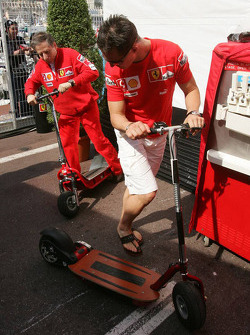 Michael Schumacher on the way to the marshals meeting