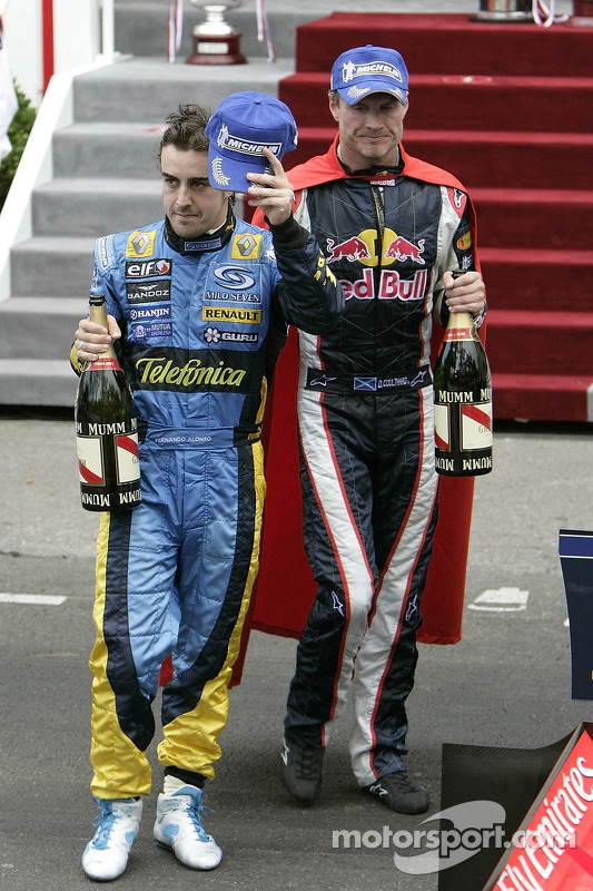 Fernando Alonso y David Coulthard
