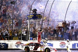 Race winner Kasey Kahne celebrates
