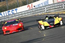 #87 Scuderia Ecosse Ferrari 430 GT: Andrew Kirkaldy, Chris Niarchos, Tim Mullen, #30 Welter Gerald W