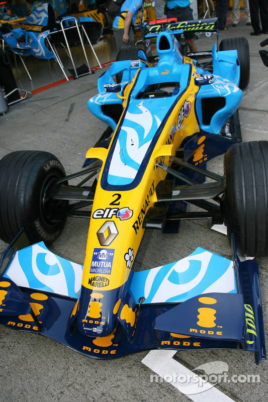 Gros plan de la Renault R26