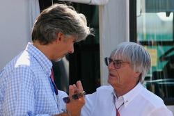 Damon Hill and Bernie Ecclestone