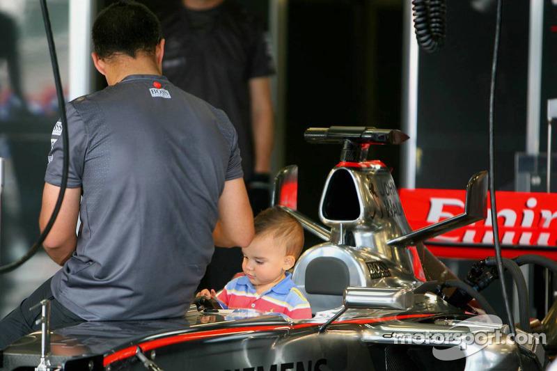 Juan Pablo Montoya avec son fils Sebastian