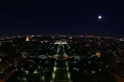 Paris by night: overlooking the Champ de Mars