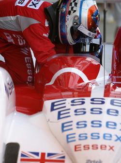 Driver change practice for Casper Elgaard and Philip Andersen