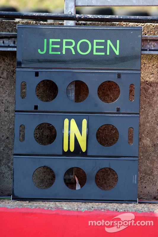 Le panneau de piste de Jeroen Bleekemolen