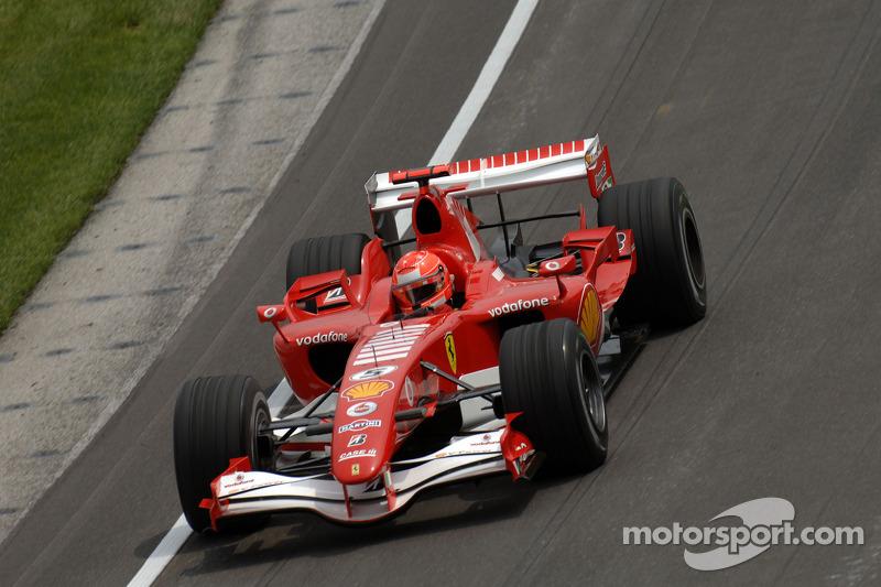 2006 - Indianapolis: Michael Schumacher, Ferrari 248 F1