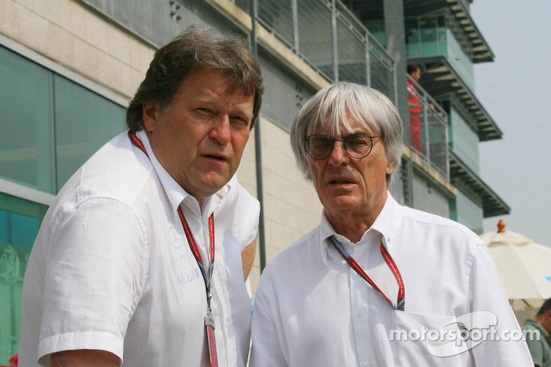 Norbert Haug et Bernie Ecclestone