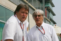 Norbert Haug and Bernie Ecclestone