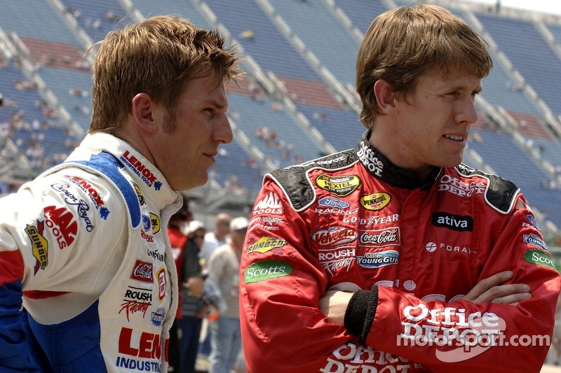 Jamie McMurray et Carl Edwards