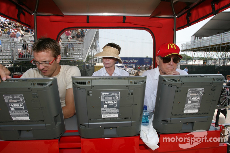 Sébastien Bourdais, Joanne Woodward et Paul Newman