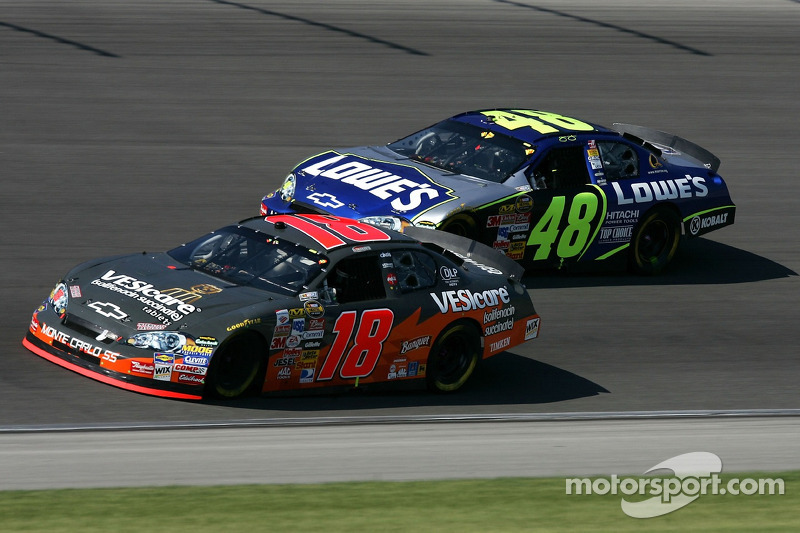 J.J.Yeley et Jimmie Johnson