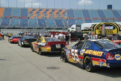 Cup cars sit ready to practice