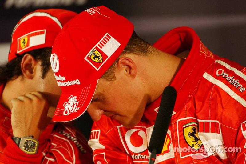 Conferencia de prensa: ganador de la pole Michael Schumacher y Felipe Massa