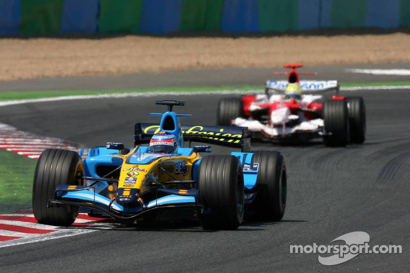 Giancarlo Fisichella devant Ralf Schumacher