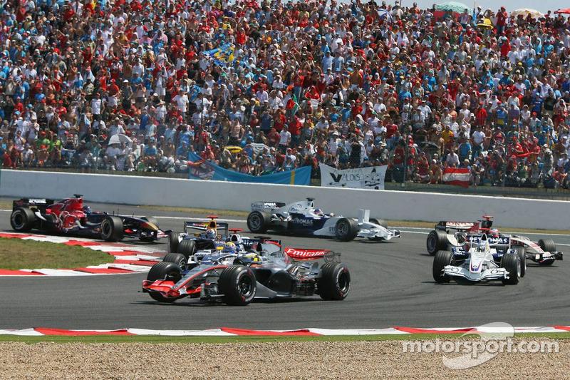 Pedro de la Rosa, David Coulthard et Jacques Villeneuve