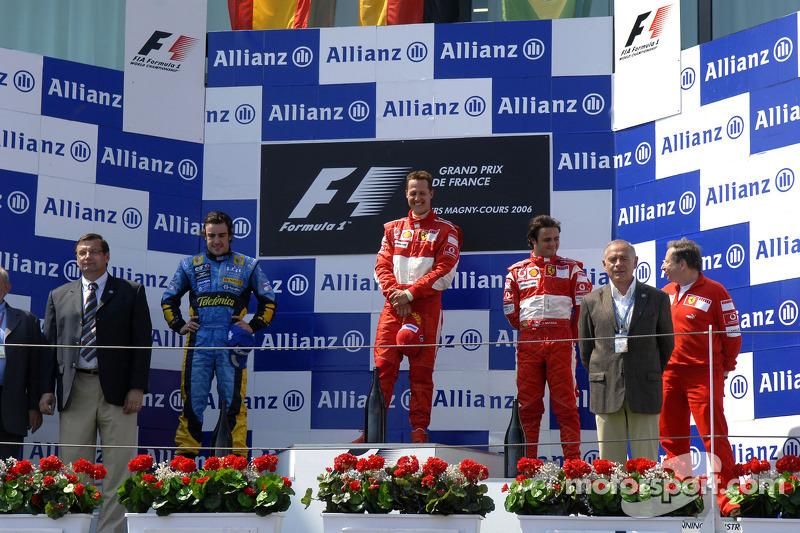 2006: 1. Михаэль Шумахер, 2. Фернандо Алонсо, 3. Фелипе Масса