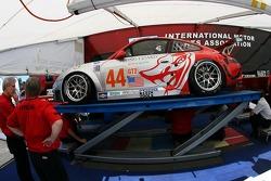 Flying Lizard Motorsports Porsche 911 GT3 RSR at technical inspection